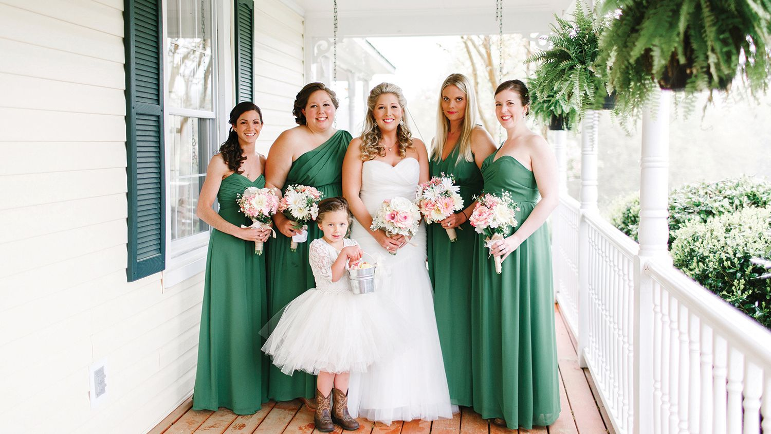 Bridal Party Front Porch