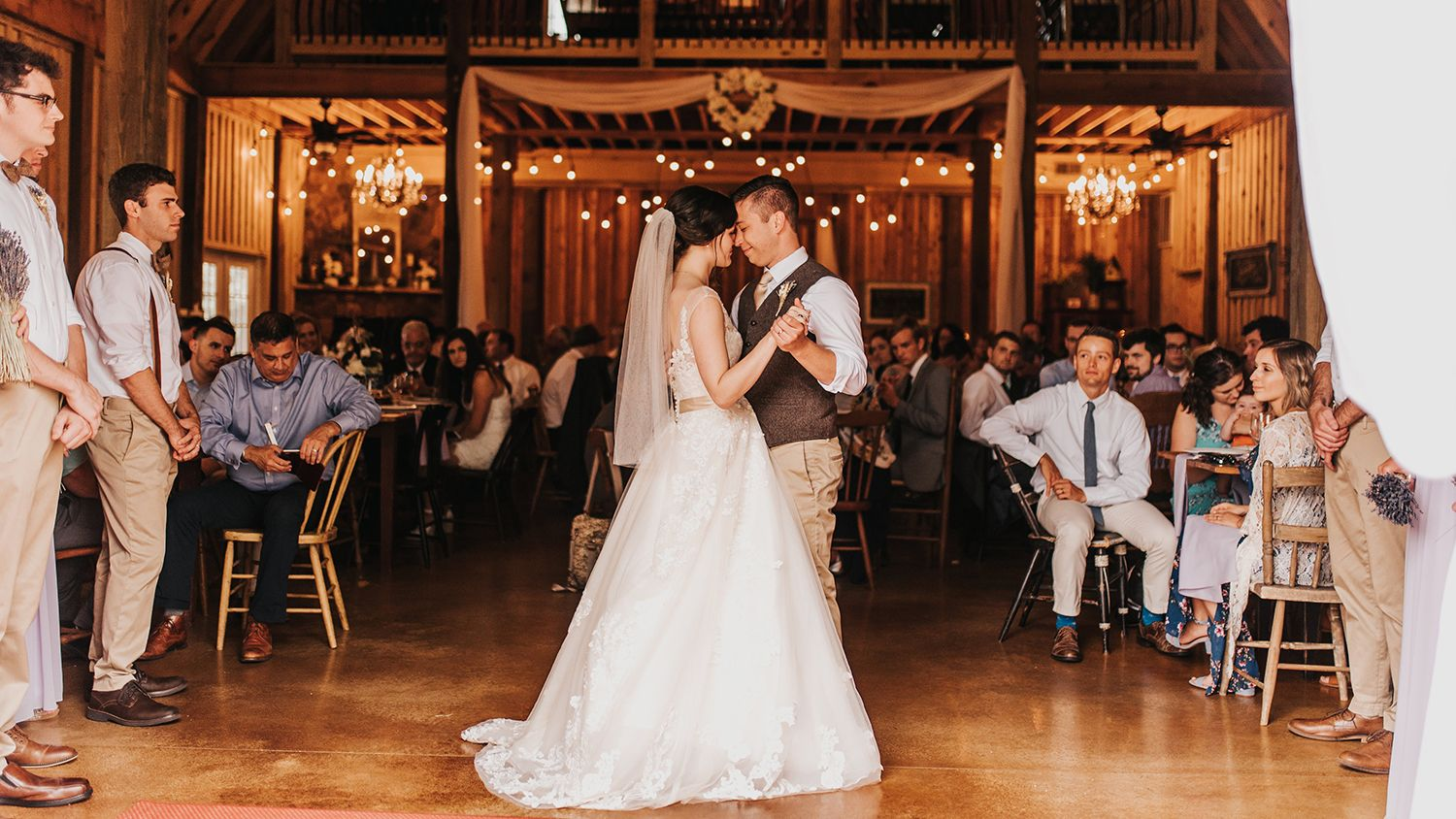 Bride And Groom First Dance Barn