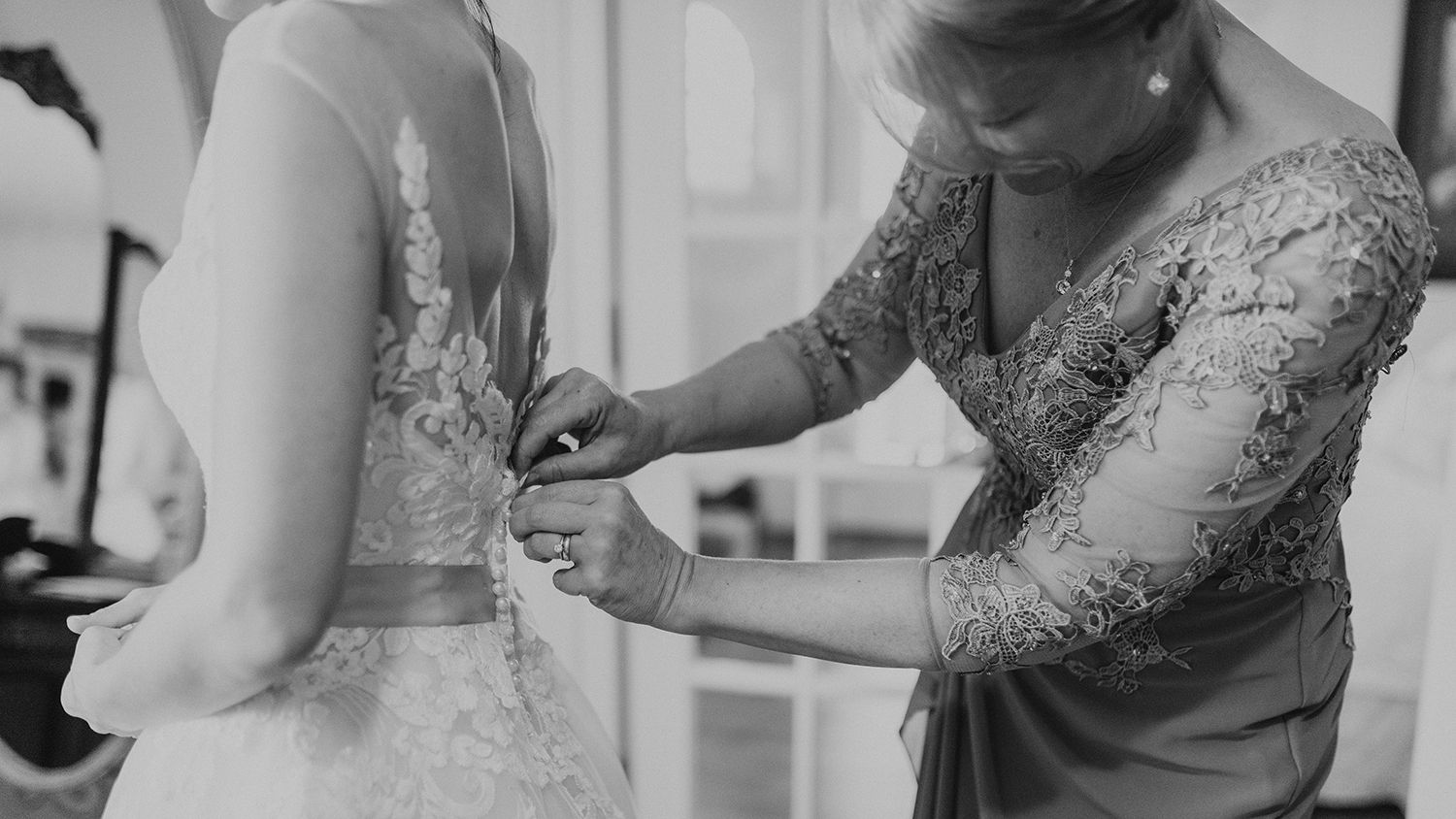 Mother Fitting Brides Dress