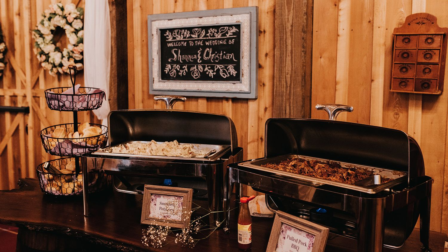 Reception Barn Catering Buffet