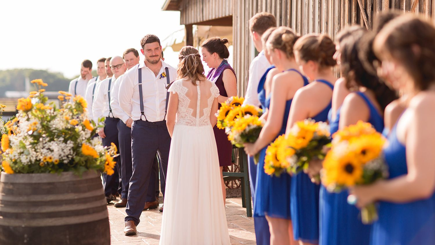 Wedding Ceremony in front of Main Barn
