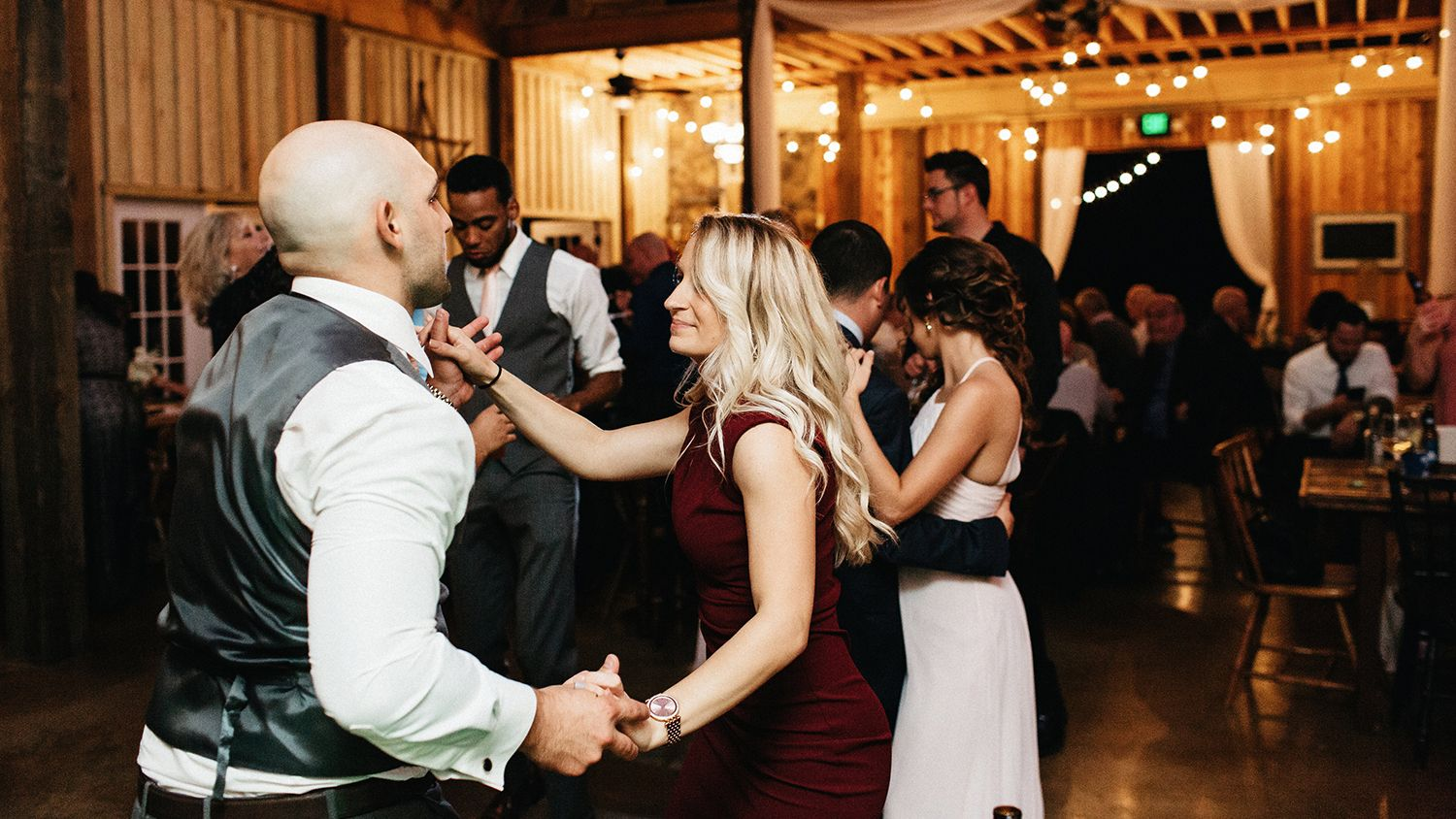 Wedding Reception Barn Dancing